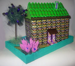 Как сделать домик из конфет 186