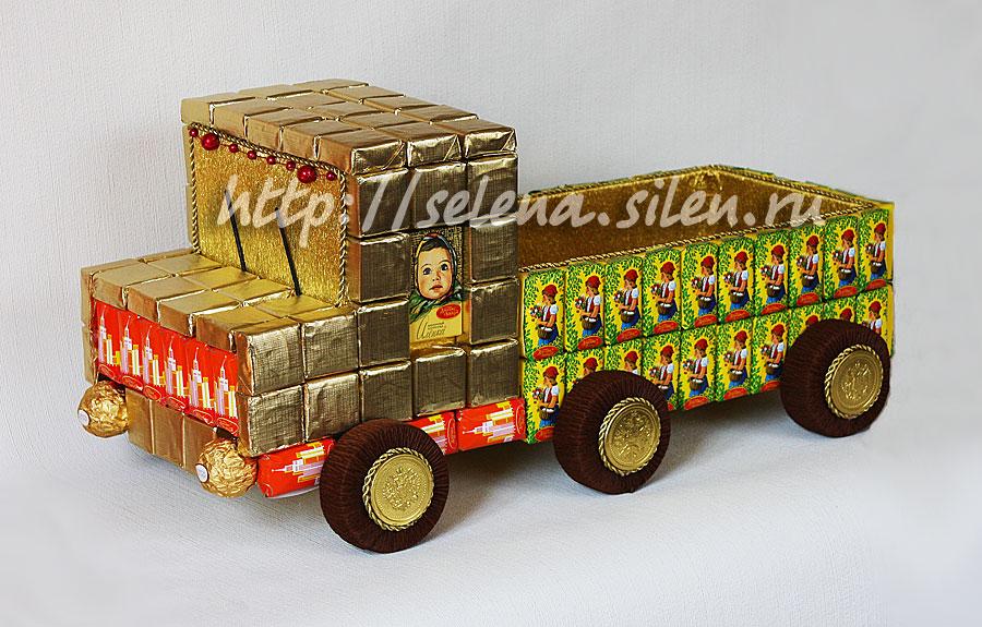 Машинка из конфет своими руками мастер класс фото 835